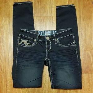 Hydraulic denim deep indigo skinny stretch jeans 5